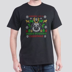Merry Pugging Christmas Pug Original Dark T-Shirt